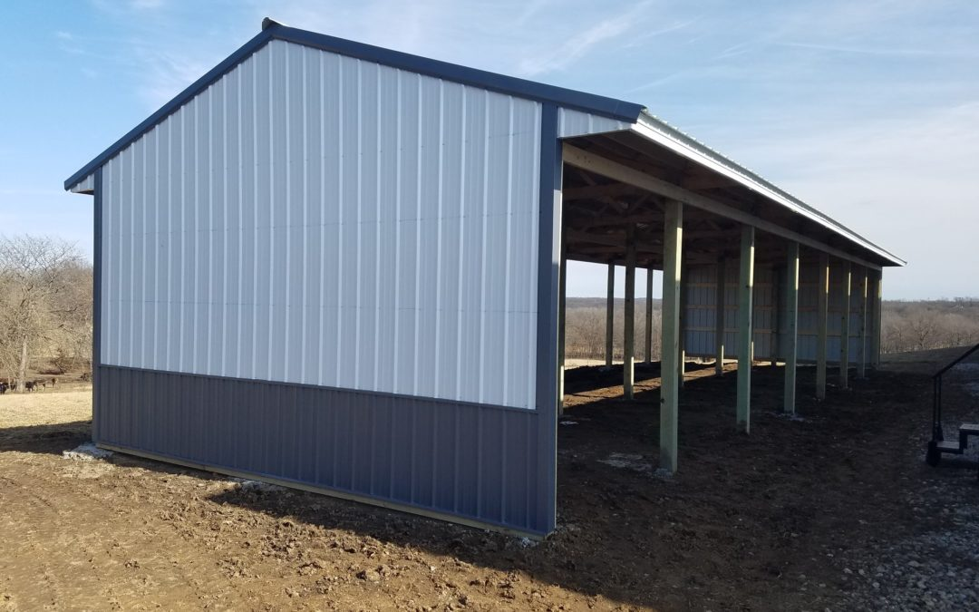 20′ x 70′ x 10′ Open Stall Building